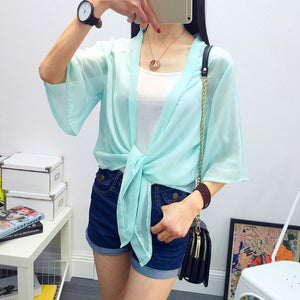 Summer Sun Protection Wraps Blouse - J20Style - 12