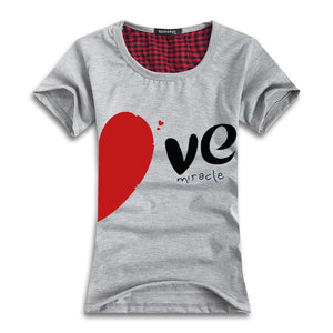 Cotton Couple Lovers Heart LOVE T-shirt