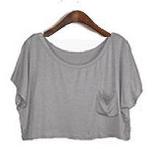 Summer Short Batwing Crop Loose Tops - J20Style - 13