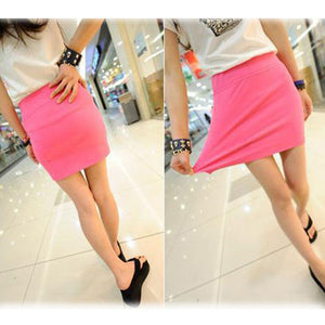 Candy Color Buttock Short Skirt - J20Style - 9