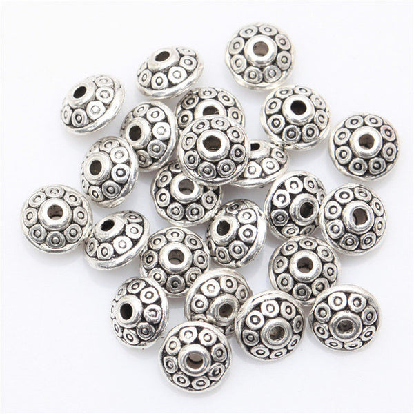 100pcs Tibetan Silver Antique Metal Gold Cone Pattern Spacer Beads
