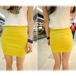Candy Color Buttock Short Skirt - J20Style - 10