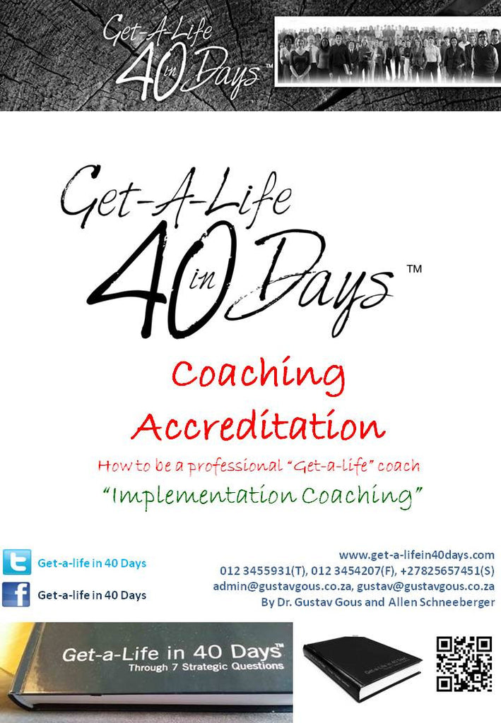 Get-a-Life Coaches Accreditation - 24 July 2017