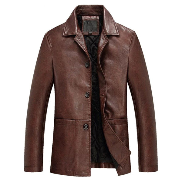 Leather Coat available 2 colors Black/ Brown