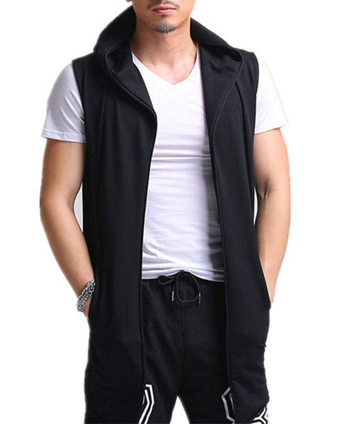 Sleeveless Hooded Vest 3 colors