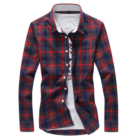 Casual Plaid Shirts (4 colors)