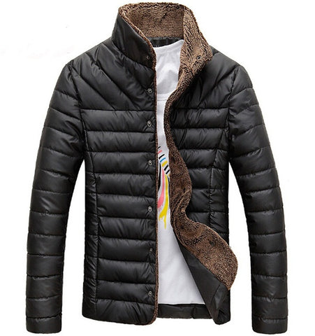 Jacket Warm Casual 2 colors Black/ Khaki