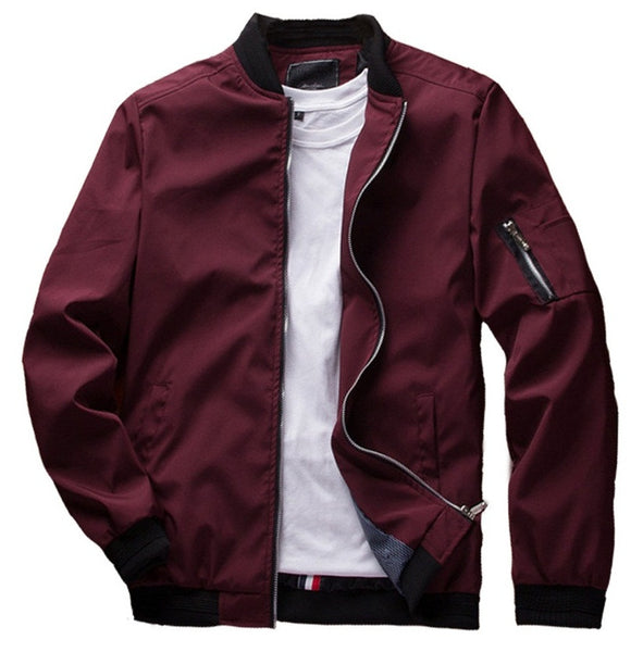 Fashion Jackets Mens Casual Solid Color Black / Red / Blue