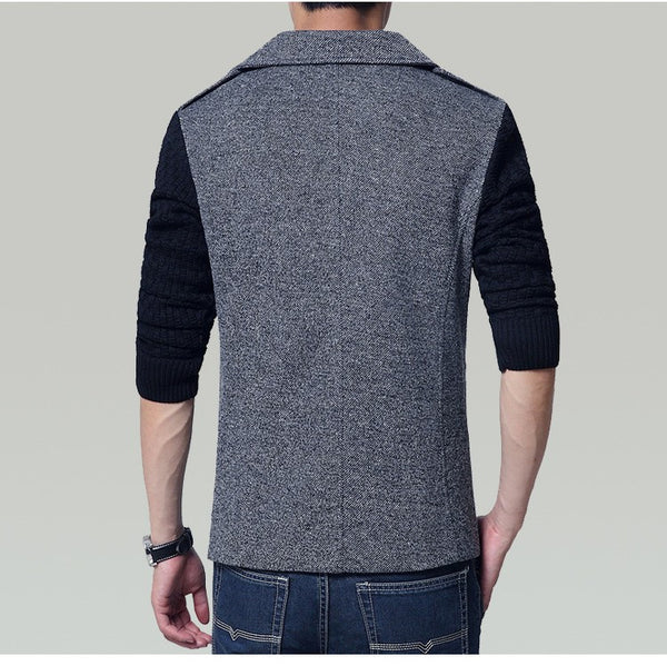 Men's short Jacket Casual Spring/Autumn available in 3 colors Light Gray/ Dark Gray/ Brown