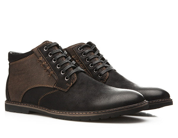 Autumn Winter Men Shoes available in 2 colors Brown/Black