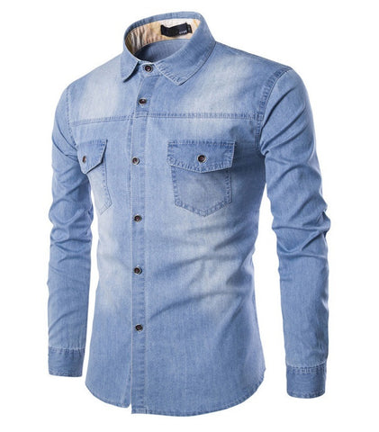 Denim Shirt Long Sleeve available 3 colors