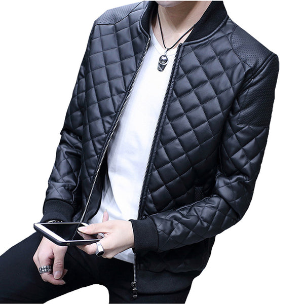 Leather Mens Jacket 2 colors