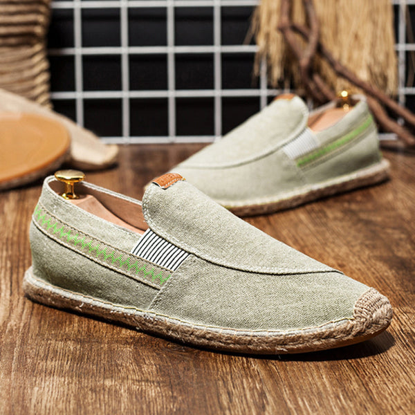 Fashion men shoes jute linen shoes 3 colors