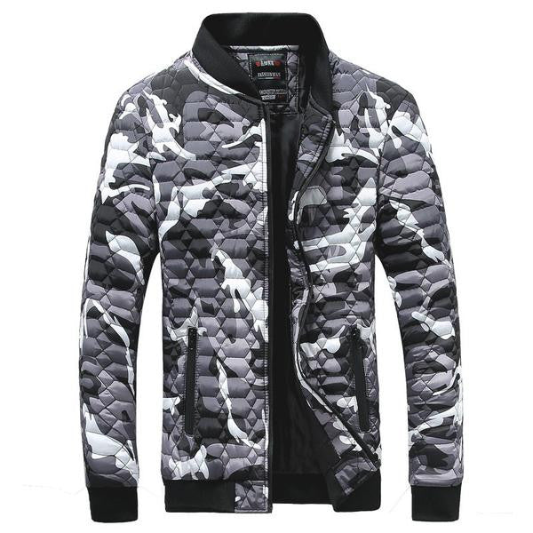 Jacket mens quilted Autumn/ Spring / Winter available in 3 colors Red/ Green/ Gray