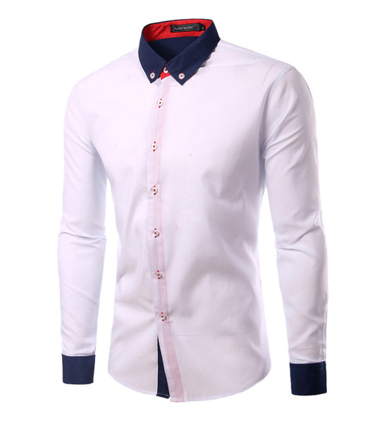 Casual Shirt available 3 colors White/Black/Dark Blue