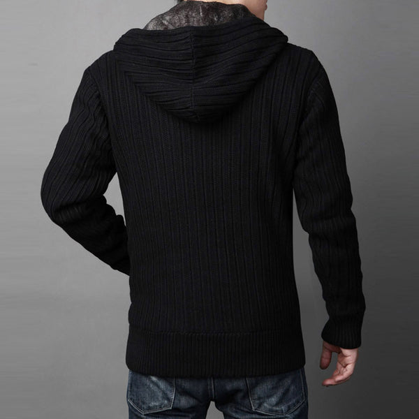 Men's Winter Thick Warm Sweater/Cardigan Wool High-quality 2 colors
