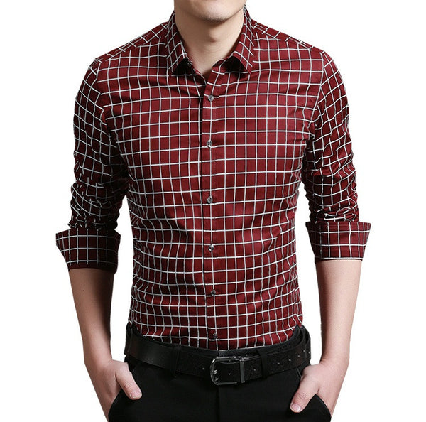 Casual Shirt (4 colors navy/light blue/red/white)