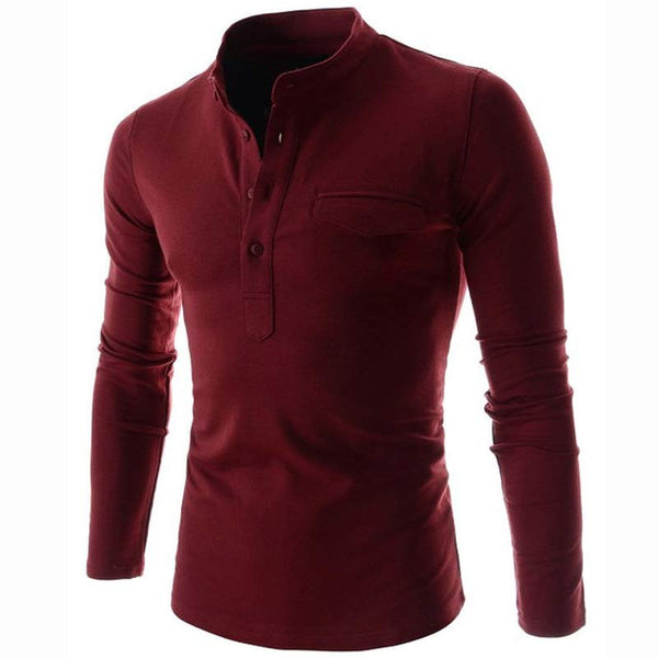 Long Sleeve Polo Shirt (6 colors)