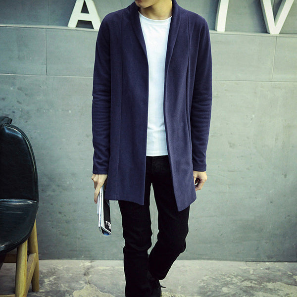 Cardigan available in 3 colors black/gray/navy blue