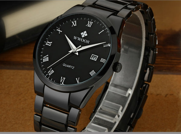 Top Luxury Men Stainless Steel Watches Quartz 2 colors