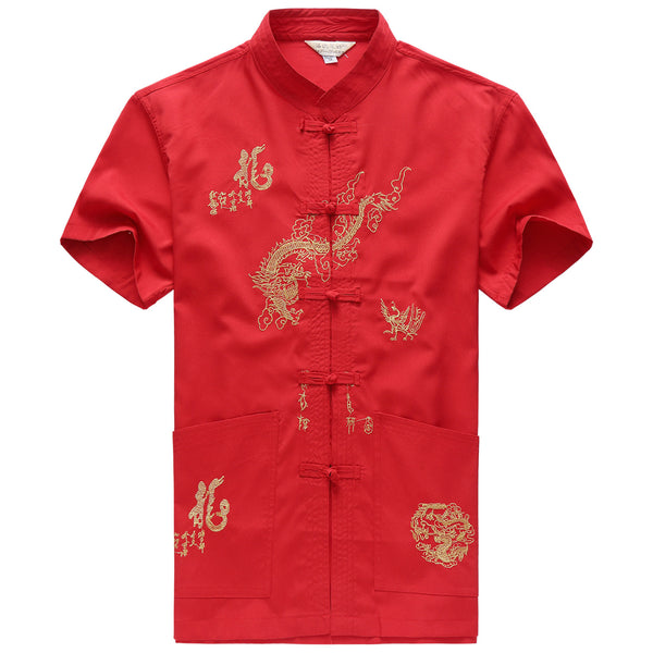 Men's Chinese style shirt 4 colors