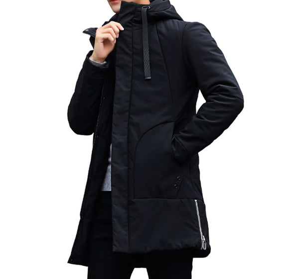 Parka Mens Long Thick 3 colors