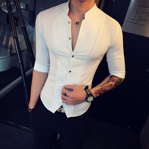 Contemporary Slim-Fit Vest Shirt 2 colors