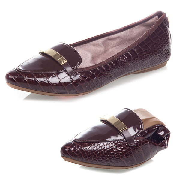KATIA BROWN PATENT CROC