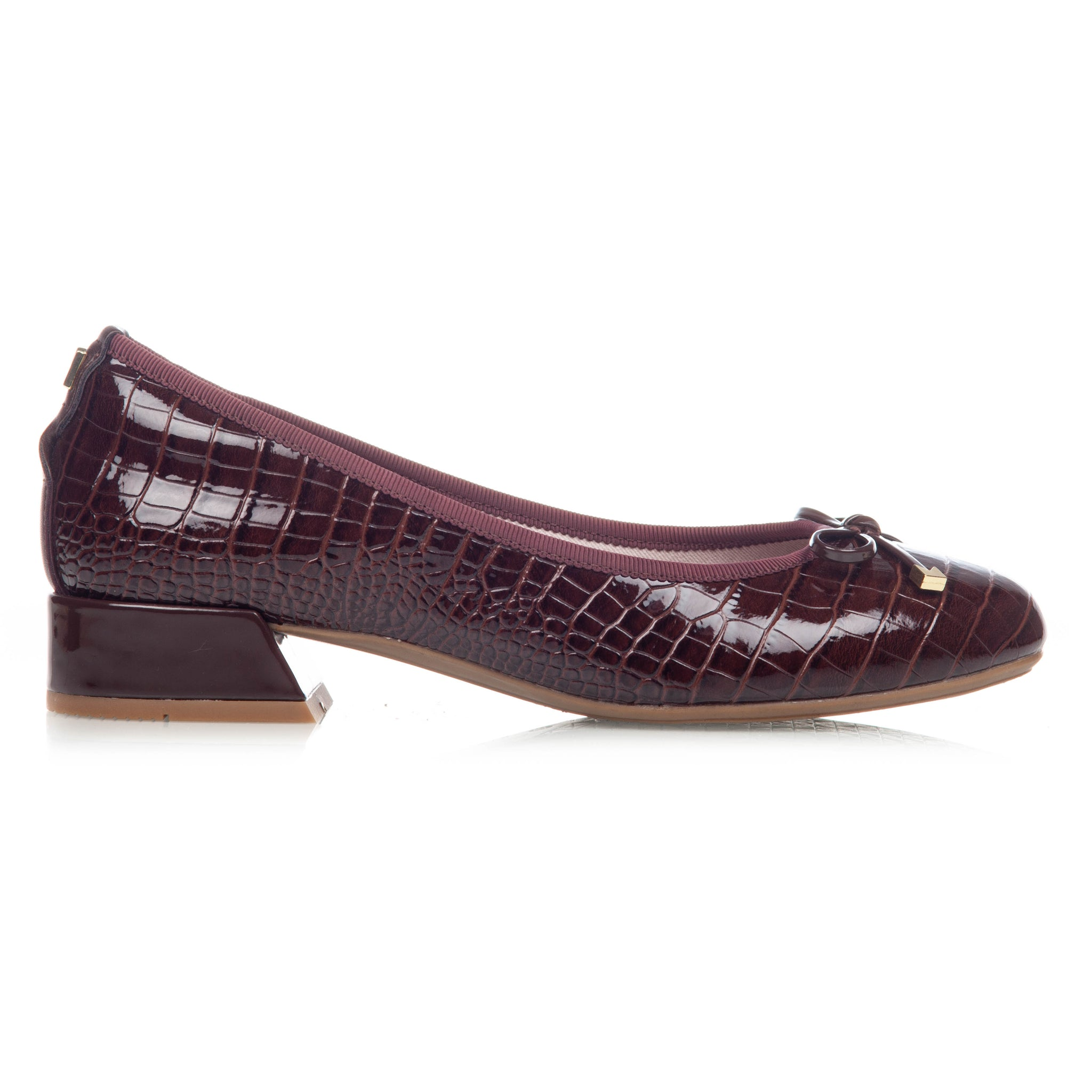 SERENA BROWN PATENT CROC