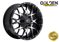 645MB 22X10.5 5X115 / 5X120 Satin Black / Milled Face 74.10