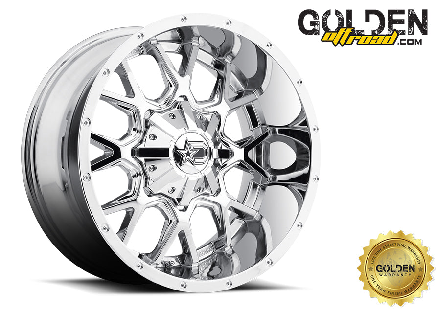 Droptstar - 645V 18X9 5X4.50 / 5X5.00 PVD Chrome 78.00