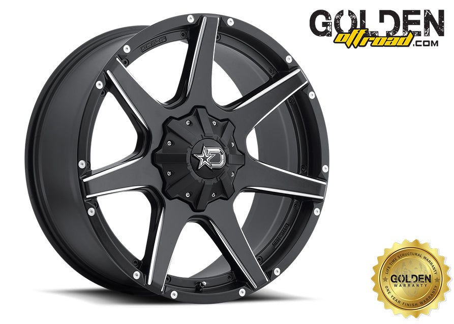 Droptstar - 647BM 20X9 6X135 / 6X5.50 Satin Black Milled 108.00