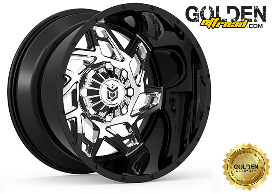 Droptstar - 652BV 20X10 6X135 / 6X5.50 Gloss BLK PVD Center 108.00