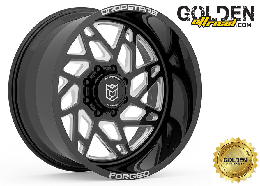Droptstar - F60BM1 22X12 8X170 Gloss Black Milled 125.20