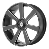 ASANTI-ABL-15 24x9 6x139.70 SATIN BLACK MILLED (15 mm)