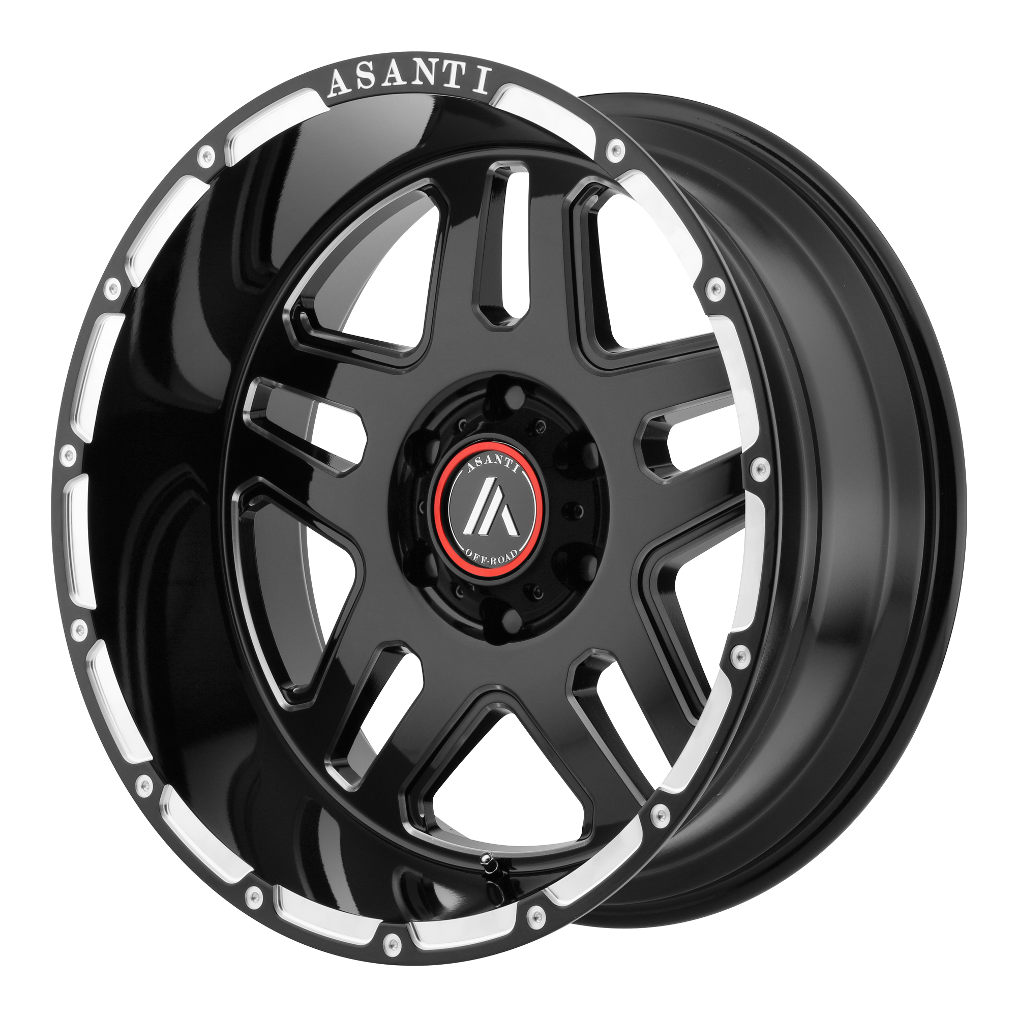 ASANTI OFF ROAD-AB809 20x9 6x139.70 GLOSS BLACK MILLED (40 mm)