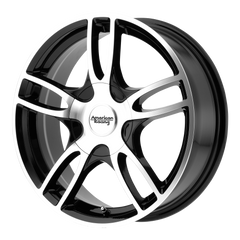 AMERICAN RACING-ESTRELLA 2 17x7.5 5x108.00/5x114.30 GLOSS BLACK MACHINED (45 mm)