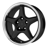 OE CREATIONS-103C 17x9.5 5x120.65 GLOSS BLACK W/ MACHINED LIP (56 mm)