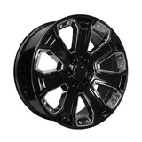 OE CREATIONS-PR113 20x9 6x139.70 GLOSS BLACK W/ CHROME ACCENTS (24 mm)