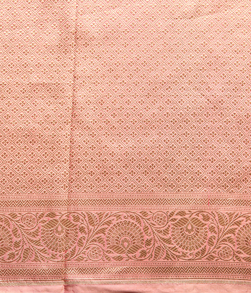 Soft Pink Banarasi Katan Silk Saree with Traditional Booti