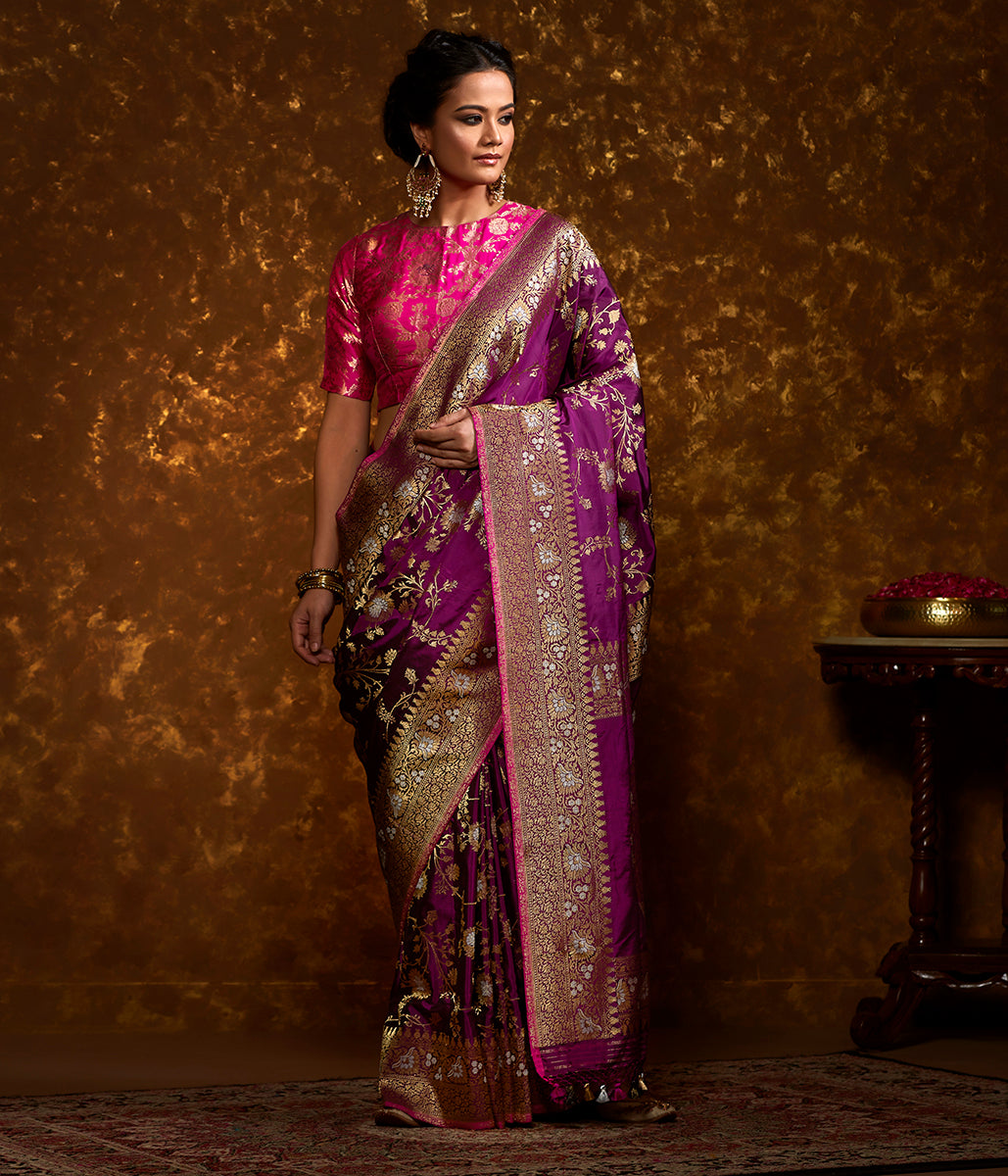 Pink and Purple Dual Tone Kadhwa Jangla