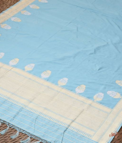 Light Blue Pure Katan Silk Dupatta Dupatta