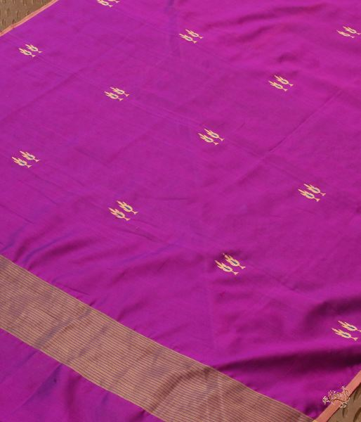 Purple Twin Motif Silk Dupatta Dupatta