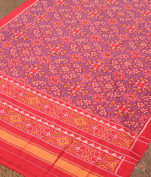 Handloom Patola Dupatta In Purple And Red Dupatta