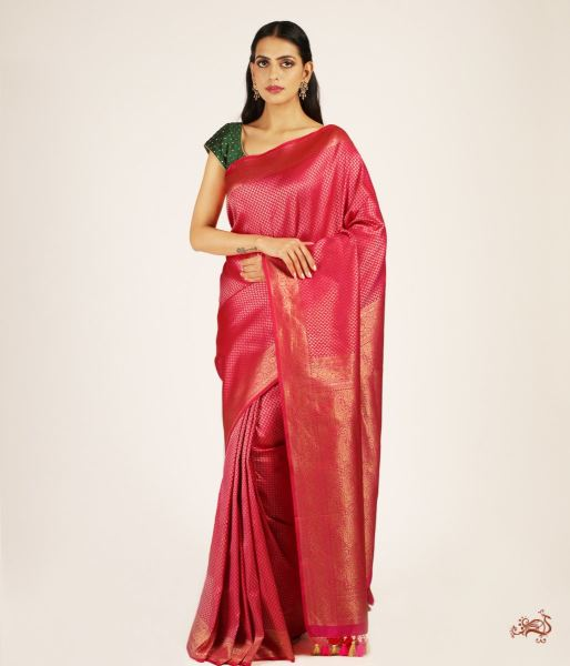 Handwoven Banarasi Tanchoi Saree With Zari Saree