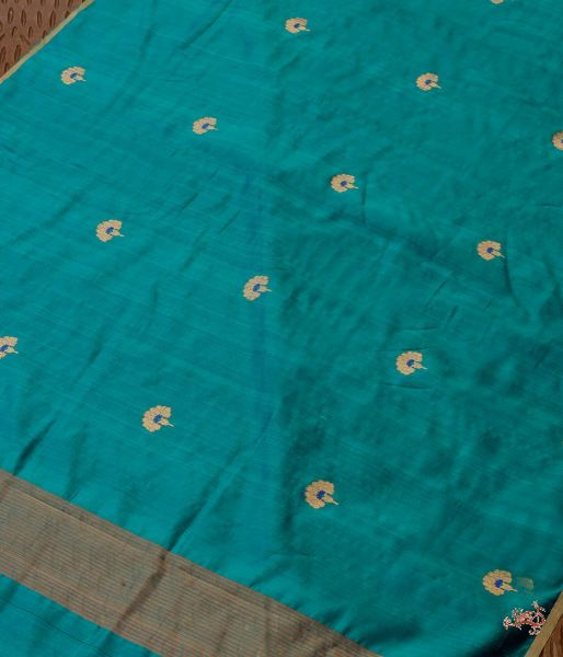 Green Flower Boota Chanderi Silk Dupatta Dupatta