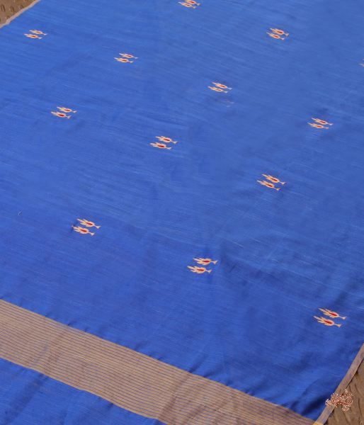 Royal Blue Twin Motif Silk Dupatta Dupatta