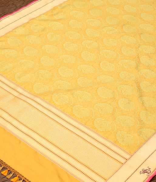 Mustard And Green Dual Tone Tanchoi Dupatta