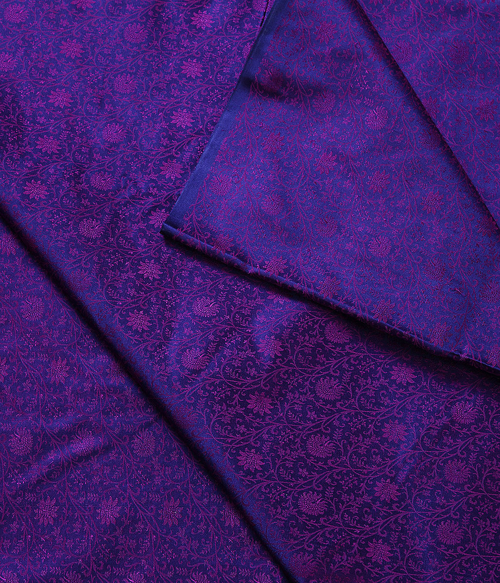 Handwoven Purple Pink Tanchoi Fabric