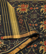 Handwoven Single Ikat Patola Dupatta in black